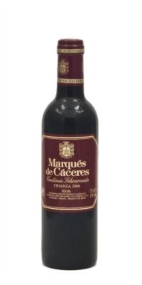 Red wine Marqués de Cáceres Crianza 3/8 Halves