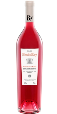 Rosé wine PradoRey barrel fermentation. Tempranillo-Merlot