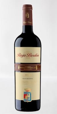 Red wine Bordon Gran Reserve 2009