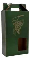 Estuche de cartón genérico con las palabras vino Selecto escritas de 2 botellas